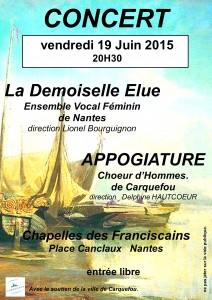 Affiche  concert 19 Juin2015