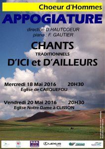 affiche concert printemps 2016